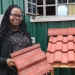 Kenyan scientist uses throw-away plastics to build homes