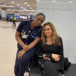 Beyonce's mother, Tina Knowles arrives in Ghana for the Year of Return