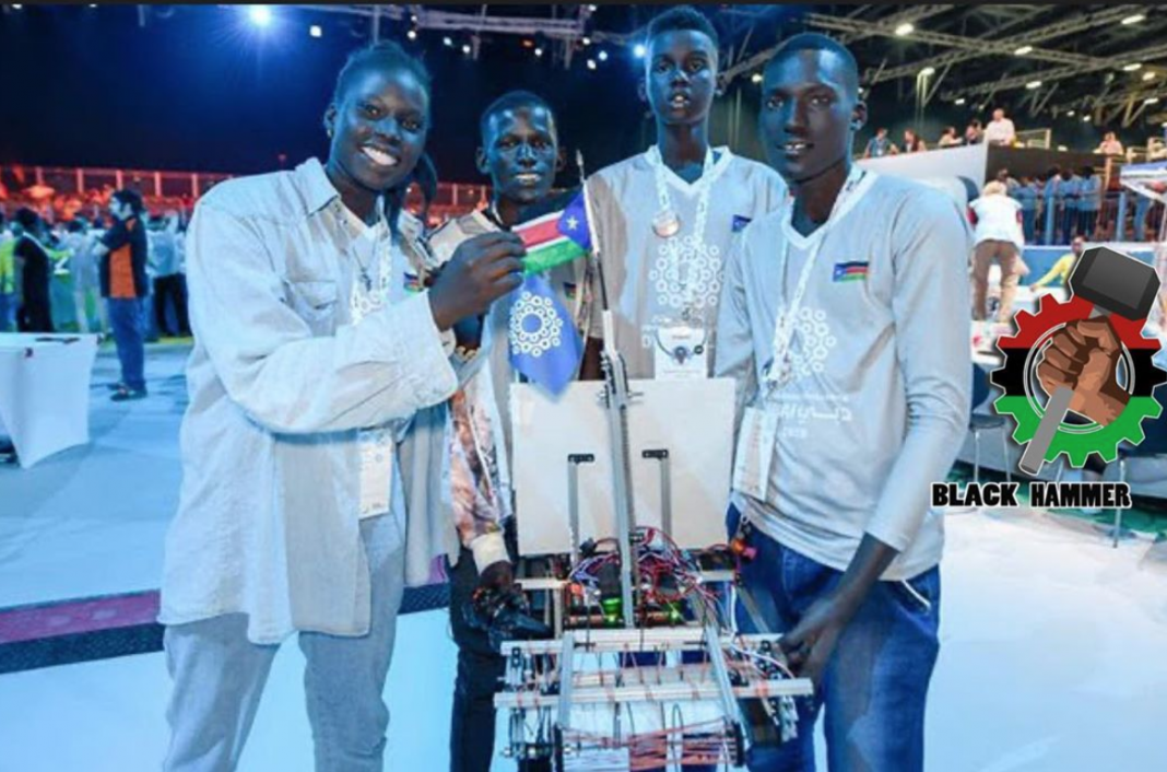 South Sudanese teens built a robot to get rid of the world's oceans of over 8.3bn tons of plastic
