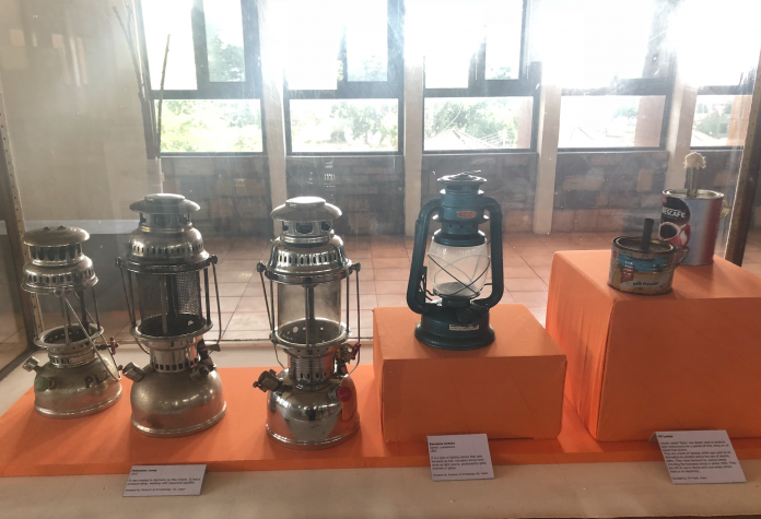 A display of various types of Kerosene lamps at the Science Museum in Accra.