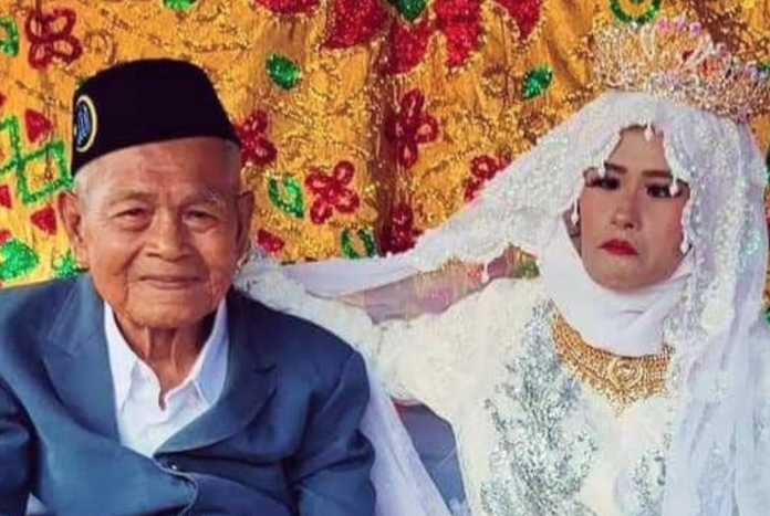 103-year-old man marries a 27-year-old woman in a controversial arranged union