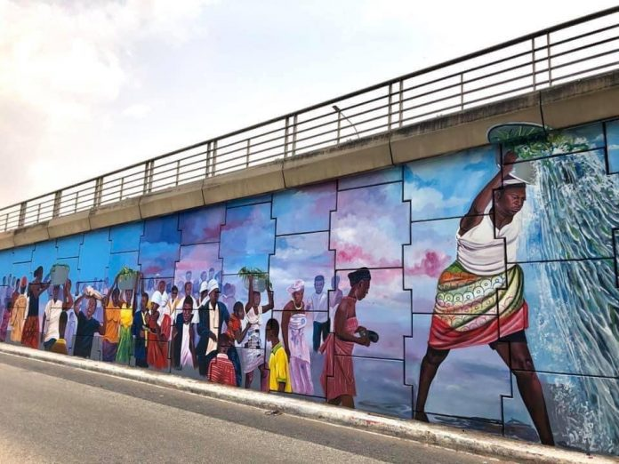 Pictures: Beautiful graffiti artwork in the heart of Accra