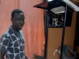 Must Watch: A Ghanaian Invents Automatic Solar Washbasin With A Used Oil Barrel