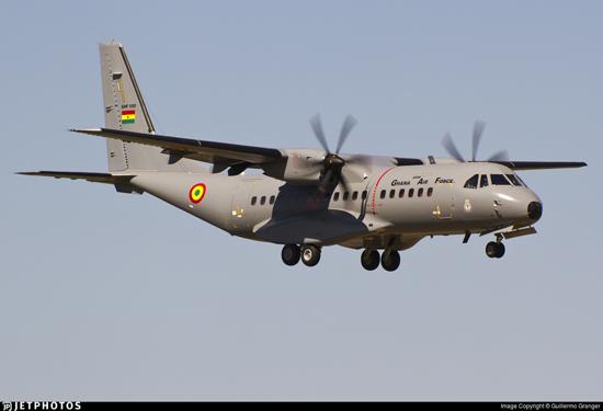 Ghana Air Force aircraft overruns apron during routine engine run